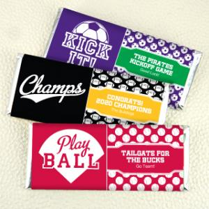 Hershey's Chocolate Bar Favors - Sports Themed image