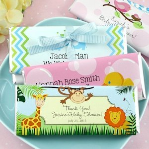 Baby Shower Personalized Chocolate Bars (Many Designs) image