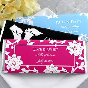 Personalized Wedding Chocolate Bar Favors (Many Designs) image