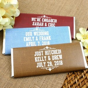 Rustic Design Personalized Chocolate Bar Favors image