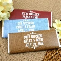 Rustic Design Personalized Chocolate Bar Favors