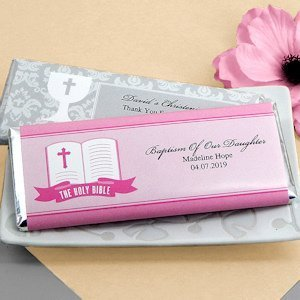Personalized Religious Event Chocolate Bars (Many Designs) image