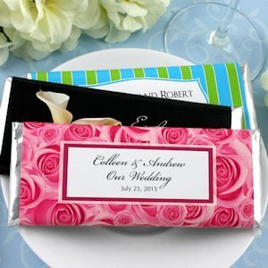 Personalized Wedding Hershey's Chocolate Bars (Many Designs) image
