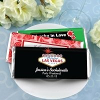 Personalized Las Vegas Favors - Hershey's Chocolate Bars