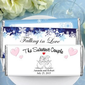 Hershey's Chocolate Bar Winter Wedding Favors image