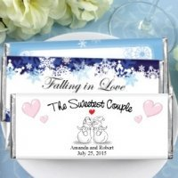 Hershey's Chocolate Bar Winter Wedding Favors