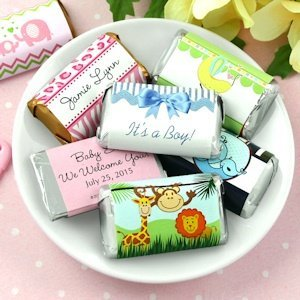 Personalized Baby Shower Mini Chocolate Bars (Many Designs) image