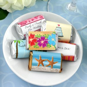 Personalized Beach Themed Mini Chocolate Bar Favors image