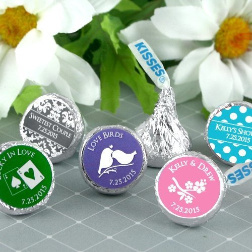 Personalized Hershey Kisses Wedding Favors Many Designs Image Samples Shown