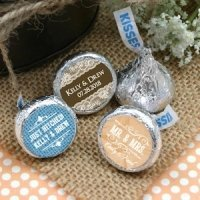 Personalized Rustic Design Hershey Kisses Favors