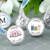 Personalized Quinceanera Chocolate Kisses (19 Designs)
