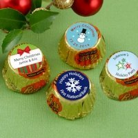 Personalized Holiday Peanut Butter Cups