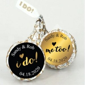 Shimmering Love I DO Plume Hersheys Kisses Sets (Set of 200) image