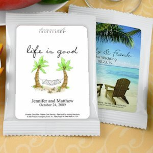 Personalized Cappuccino Beach Themed Favors image