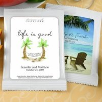 Personalized Cappuccino Beach Themed Favors