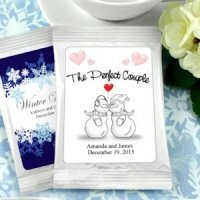 Winter Wedding Personalized Cappuccino Favors