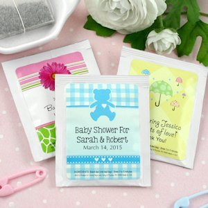 Baby Shower Personalized Tea Favors (Many Designs) image