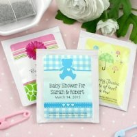 Baby Shower Personalized Tea Favors (Many Designs)