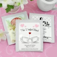 Personalized Tea Wedding Favors (Many Designs)