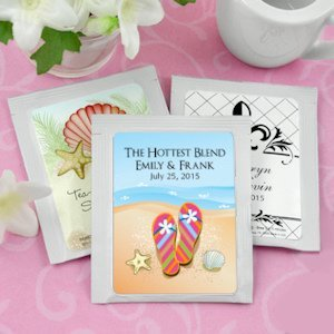 Personalized Beach Wedding Favors - Tea image