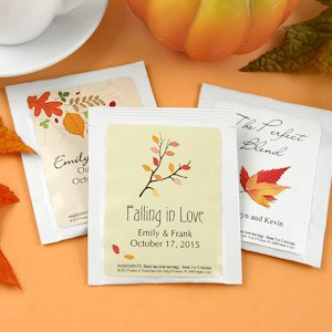 Autumn Tea Personalized Wedding Favors image