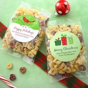 Personalized Holiday Design Heart Shaped Pasta Favors image