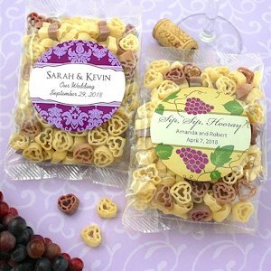 Personalized Vineyard Design Heart Shaped Pasta Favors image