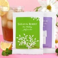 Personalized Silhouettes Iced Tea Favors