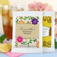 Personalized Bridal Shower Iced Tea Favors