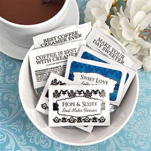 Personalized Wedding Creamer Packets (Set of 100) image