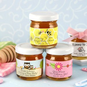 Baby Shower Personalized Honey Jars (Many Designs) image