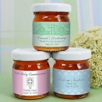 Personalized Religious Event Honey Jars (Many Designs)