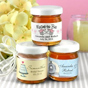 Personalized Honey Jar Wedding Favors (Many Designs) image