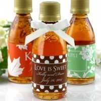 Sweet Silhouettes Personalized Maple Syrup Favors