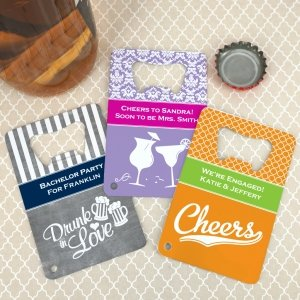 Personalized Stainless Steel Credit Card Bottle Openers image