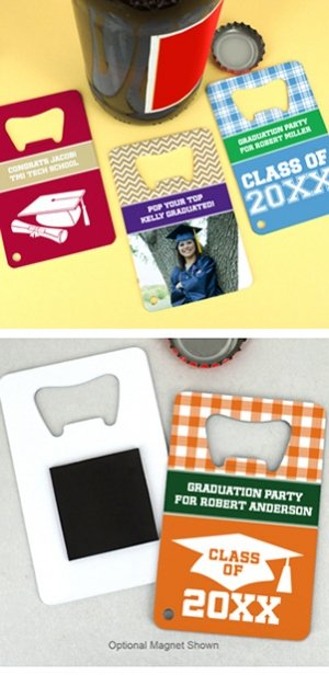 Graduation Stainless Steel Credit Card Bottle Openers image