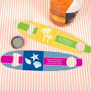 Personalized Surfboard Bottle Opener Wedding Favors image