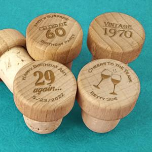 Adult Birthday Wood Wine Bottle Stopper image