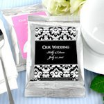 Personalized Coffee Wedding Favors - Silver (Many Designs)