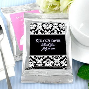 Personalized Coffee Bridal Shower Favors - Silver image