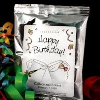 Personalized Birthday Silver Coffee Favors (Many Designs)