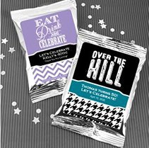 Adult Birthday Coffee Favors (Silver) image