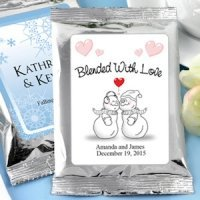Winter Wedding Personalized Coffee Favors - Silver