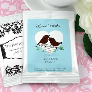 White Personalized Coffee Wedding Favor Bag (Many Designs) image