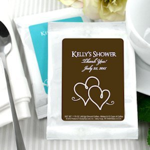 Personalized Coffee Wedding Shower Favors - White image