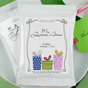 Personalized Coffee Favors for Quinceaneras image