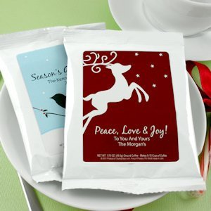 White Holiday Coffee Favors (24 Designs) image