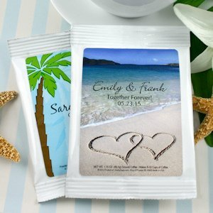 Personalized Coffee Beach Theme Wedding Favors image