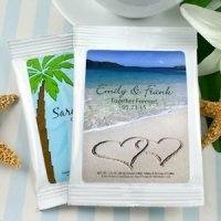 Personalized Coffee Beach Theme Wedding Favors