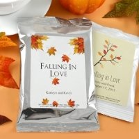 Fall Themed Personalized Coffee Wedding Favors